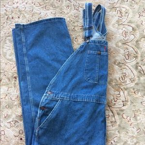 Dickies Jean Bib Overalls 48 x 32 7 Pockets & Loop